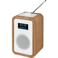JVC  RA-D51 DAB/FM Clock Radio - Wood & White, White
