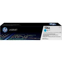 HP 126A Cyan Toner Cartridge, Cyan