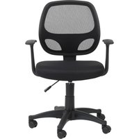 ALPHASON Davis Mesh Operator Chair - Black, Black