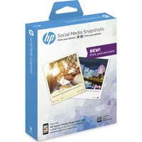 HP  Social Media Snapshots Removable Sticky 100 x 130 mm Photo Paper - 25 sheets