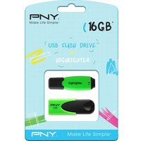 PNY Attache 4 USB 2.0 Memory Stick with Highlighter - 16 GB