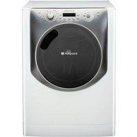 HOTPOINT Aqualtis AQ113F497E Washing Machine - White & Tungsten, White