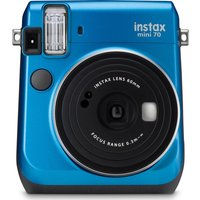 FUJIFILM  Instax Mini 70 Instant Camera - 10 Shots Included, Blue, Blue