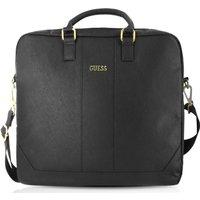 GUESS 15 Leather Laptop Case - Black, Black