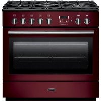 RANGEMASTER  Professional FX 90 Dual Fuel Range Cooker - Cranberry & Chrome, Cranberry
