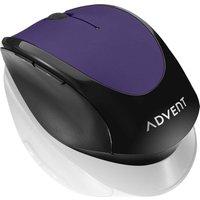 ADVENT AMWLPP15 Wireless Optical Mouse - Purple, Purple