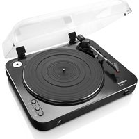 LENCO L-85 Turntable - USB, Black, Black