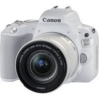 CANON EOS 200D DSLR Camera with EF-S 18-55 mm f/4-5.6 DC Lens - White, White