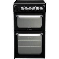 HOTPOINT HUE52KS Electric Ceramic Cooker - Black, Black