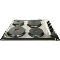 HOTPOINT E604X Electric Solid Plate Hob - Stainless Steel, Stainless Steel