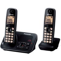 PANASONIC  KX-TG6622EB Cordless Phone with Answering Machine - Twin Handsets
