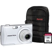 PRAKTICA Luxmedia Z250-S Compact Camera & Accessories Bundle - Silver, Silver