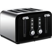 RUSSELL HOBBS Windsor 22832 4-Slice Toaster - Black, Black