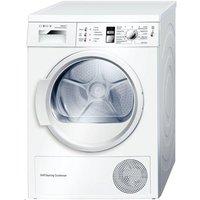 BOSCH WTW863S1GB Heat Pump Condenser Tumble Dryer - White, White