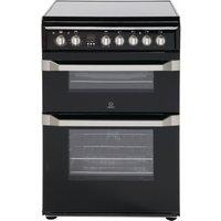INDESIT ID60C2KS 60 cm Electric Ceramic Cooker - Black & Stainless Steel, Stainless Steel