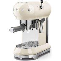 SMEG ECF01CRUK Coffee Machine - Cream, Cream