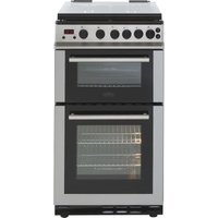 BELLING FS50GDOLm 50 cm Gas Cooker - Stainless Steel & Black, Stainless Steel