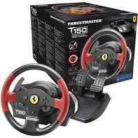 THRUSTMASTER TS150 Ferrari Edition PlayStation & PC Gaming Wheel - Black, Black