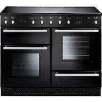 RANGEMASTER Toledo 110 Electric Ceramic Range Cooker - Black & Chrome, Black