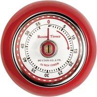 EDDINGTONS Retro Magnetic Kitchen Timer - Red, Red