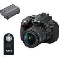 NIKON D5300 DSLR Camera with 18-55 mm f/3.5-5.6 Zoom Lens, Black