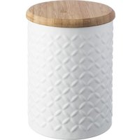 TYPHOON Imprima Diamond Round 1.2 litre Storage Tin - White, White
