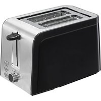 LOGIK L02TSS17 2-Slice Toaster - Black & Stainless Steel, Stainless Steel