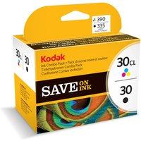KODAK 30 Series Tri-colour & Black Ink Cartridge - Twin Pack, Black
