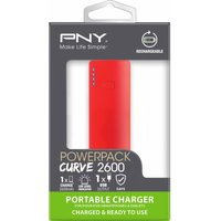 PNY  Curve 2600 Portable Power Bank - Red, Red