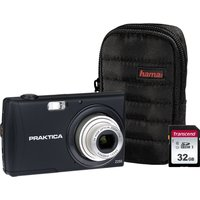 PRAKTICA Luxmedia Z250-BK Compact Camera & Accessories Bundle - Black, Black