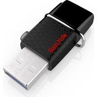 SANDISK  Dual USB 2.0 OTG Memory Stick - 16 GB, Black, Black