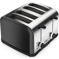 TOWER T20008 Linear 4-Slice Toaster - Black, Black