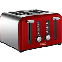 RUSSELL HOBBS Windsor 22831 4-Slice Toaster - Red, Red