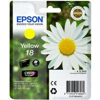 EPSON  Daisy T1804 Yellow Ink Cartridge, Yellow