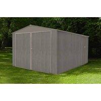 Garage en métal  3.80 x 4.80 m aspect  bois vieilli CHALET ET JARDIN