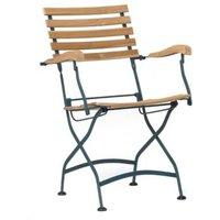 Lot de 2 fauteuils pliants en métal et teck - Pratique et esthétique