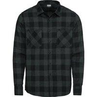 Urban Classics - Checked Flannel Shirt - Shirt - black-grey
