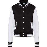 Urban Classics - 2-Tone College - Girls college jacket - black-white