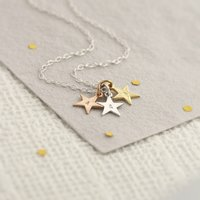 Personalised Tricolore Stars Necklace