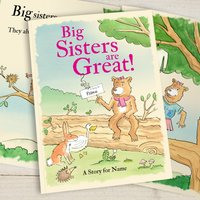 Personalised Big Sisters are Great - Softback