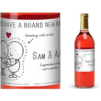 Chilli and Bubble's French AC Rosé Wine with New Baby in Gold Box