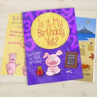 Personalised Is It My Birthday Yet Countdown Book - Softback