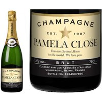 Champagne Authentic Star Label in a Gold Gift Box
