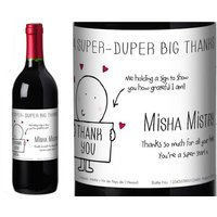 Chilli and Bubble's French AC Red Wine Thank You label in a Gold Gift Box