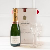 Laurent-Perrier Brut and Glasses