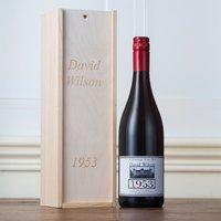 Personalised Year Of Birth Wine