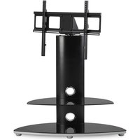 Osmium TV Stand with TV Bracket - Black / Chrome - Tv Gifts