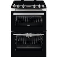 ZCV66078XA 60cm Electric Double Oven with Ceramic Hob