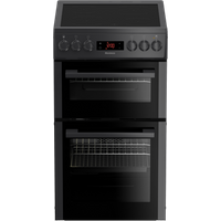 HKS951N 50cm Double Oven Electric Cooker with Ceramic Hob | Anthracite