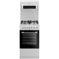 GGS9151W 50cm Single Oven Gas Cooker with Gas Hob | White